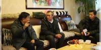 市民政局领导春节前走访慰问基层劳模和困难职工 - 民政局