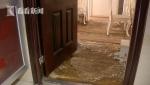 松江锦辰小区一业主疫情后查看新房:恶臭扑鼻地板报废 - 新浪上海
